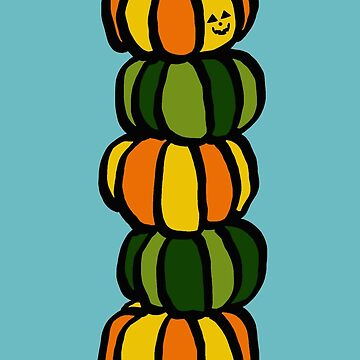 Halloween Pumpkins Totem Pole by m-lapino