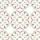 Elegant Christmas Holly Pattern by Ruth Moratz