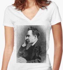 NIETZSCHE Women's Fitted V-Neck T-Shirt