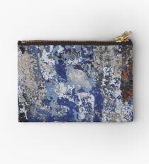 Old Blue Mural in India  Studio Pouch