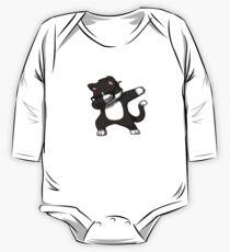 Tupfendes Katzen-lustiges Hemd tupfen Hip Hop, der Kätzchen tupft Baby Body Langarm