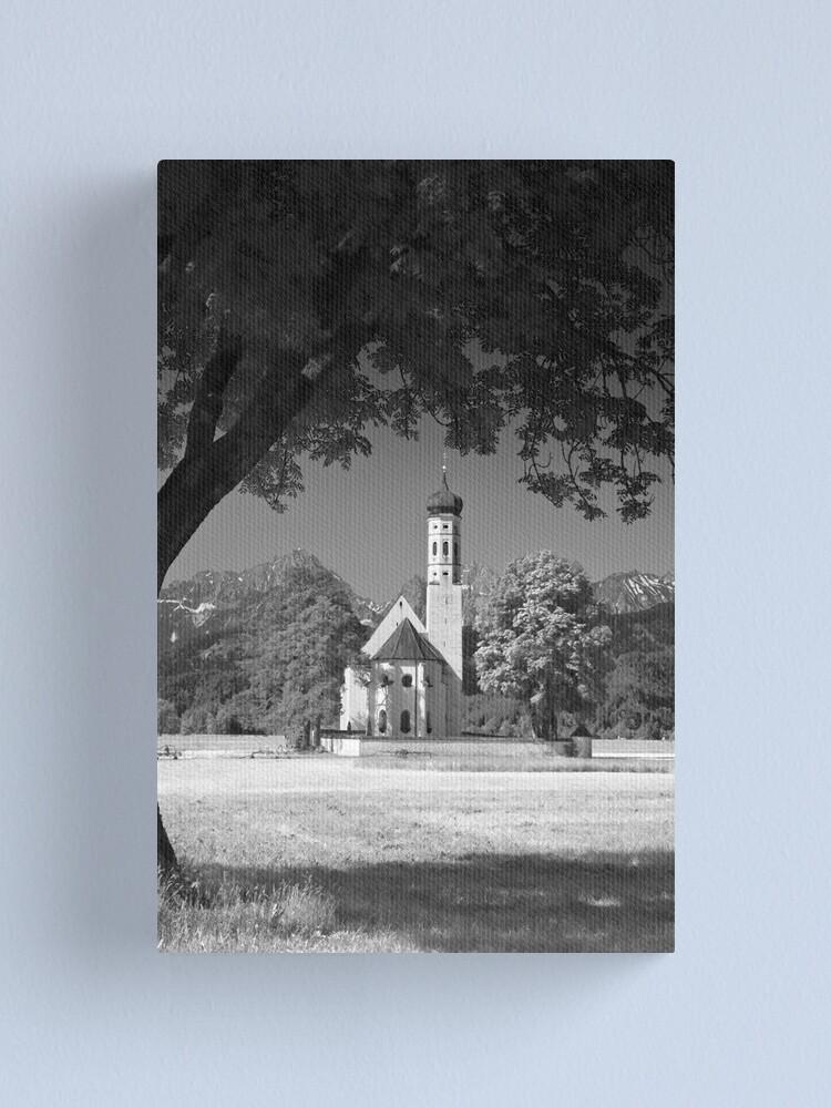 Alternate view of Kolomanskirche. Bavaria. (Alan Copson © 2008) Canvas Print
