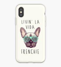 Vinilo o funda para iPhone Livin 'la vida Frenchie