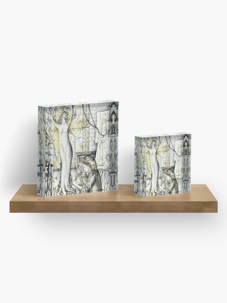 Alternative Ansicht von Bildhauerin Acrylblock