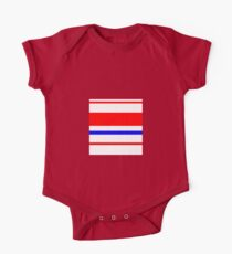 RED, WHITE, BLUE, stripes One Piece - Short Sleeve