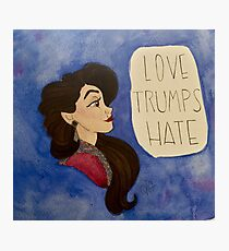 Love Trumps Hate - Redeemed Evil Queen Photographic Print