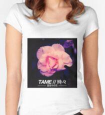 T A M E // M I D N I G H T  F L O W E R V1 Women's Fitted Scoop T-Shirt