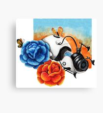 The Aperture Portal Device with Roses [FAN ART] Canvas Print