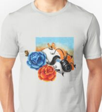 The Aperture Portal Device with Roses [FAN ART] T-Shirt