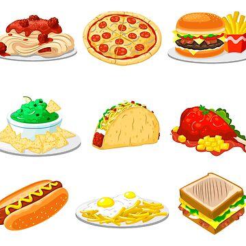 Foods Grid by Gamerama
