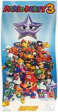 Mario Party 3 - Remastered and Restored from Nintendo Power Magazine Poster