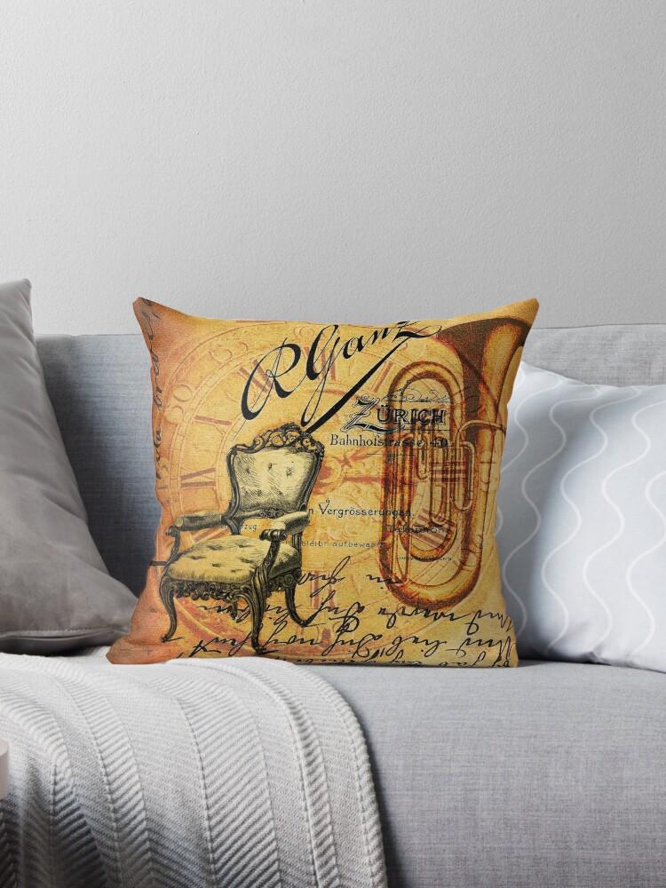 Retro scripts musical instrument Saxophone Jazz  by lfang77