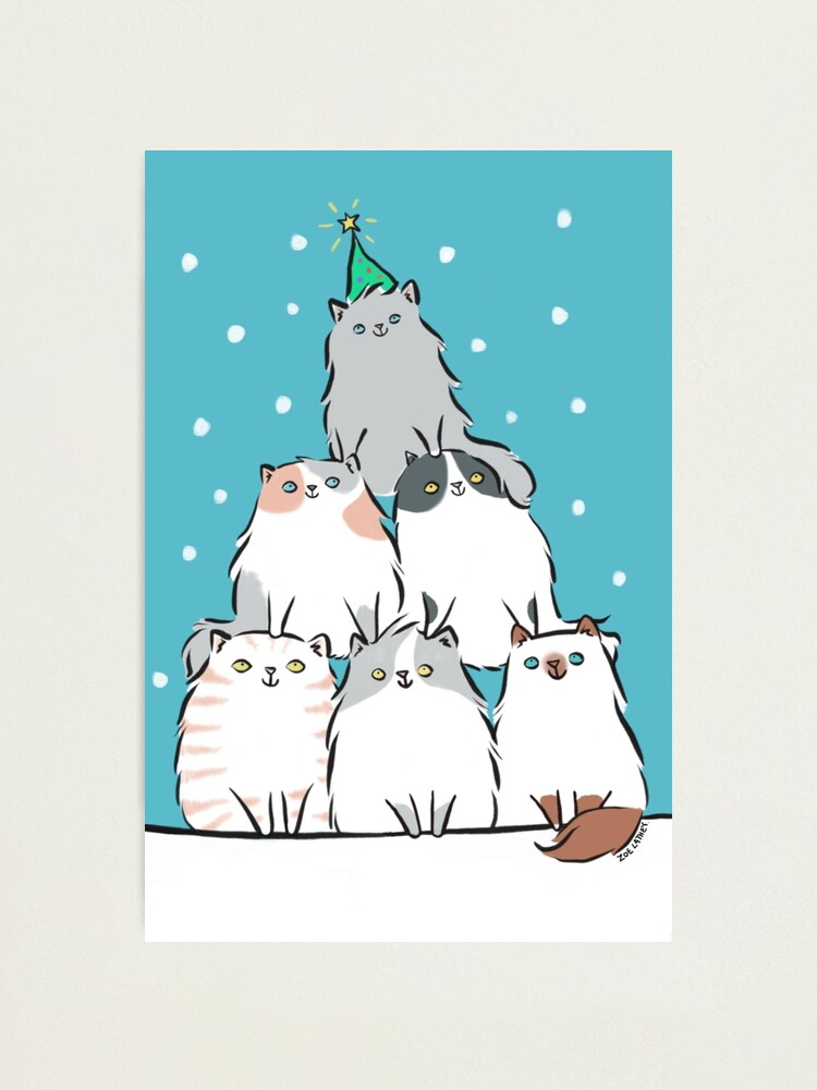 Alternate view of Kitty Cat Christmas Tree Photographic Print