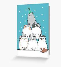Kitty Cat Christmas Tree Greeting Card