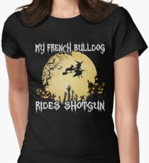 Halloween French Bulldog Costume My French Bulldog Rides Shotgun Tee T-Shirt