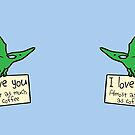 I Love You Almost As Much As Coffee (Pterodactyl) by jezkemp