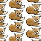 Fox curled up repeat pattern by Extreme-Fantasy