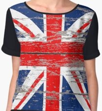 Barnwood United Kingdom Great Britain Union Jack flag Women's Chiffon Top