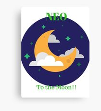 Neo is going to the Moon Canvas Print