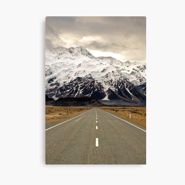The Road to Aoraki Canvas Print