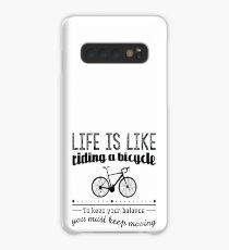 Redfool.com Das Leben ist wie Fahrrad fahren Hülle & Klebefolie für Samsung Galaxy
