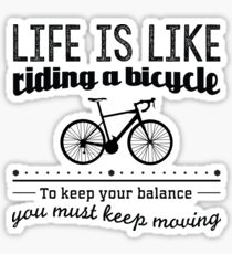 Redfool.com Life is like riding a bicycle Sticker