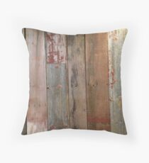 Farmhouse chic Rustic western country primitive barn wood Throw Pillow