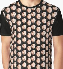 Kim Jong Un Pattern Graphic T-Shirt