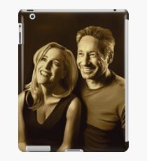 A successful old married couple - sepia panting iPad Case/Skin