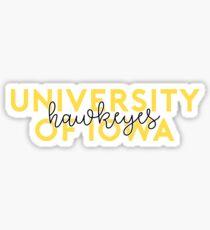 University of Iowa - Style 8 Sticker