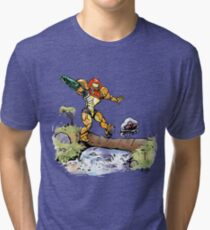 Samus and Metroid Tri-blend T-Shirt