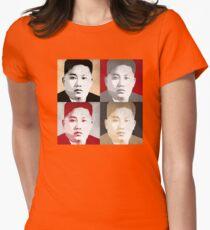 Kim Jong Un Pop Art Women's Fitted T-Shirt