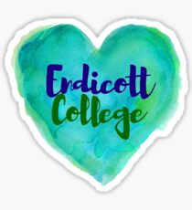 Endicott College - Watercolor Heart Sticker