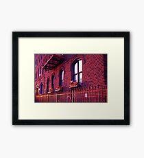 Rasberry Sunset Framed Print