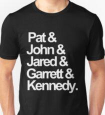 Die Maine-Mitglieder-- Weiß Slim Fit T-Shirt