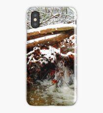 little winter waterfall iPhone Case