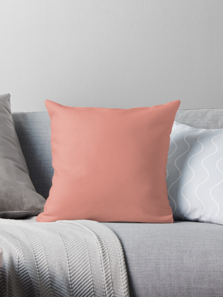 Boho Chic Girly Peach Color Blush Pink Coral Throw Pillows By
