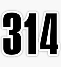 314 St. Louis | Phone Area Code Shirts Sticker