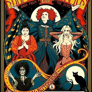 Sanderson Sisters Tour Poster T-Shirt by EricByrd