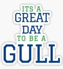 Endicott College - It's a Great Day to be a Gull Varsity Lettering Sticker
