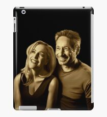 A successful old married couple - black background painting iPad Case/Skin