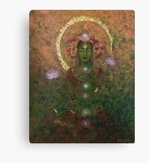 Green Tara Canvas Print