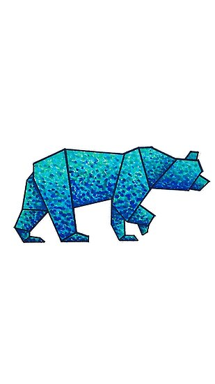 Spotted Geometric Bear Drawing By Nicole Owens