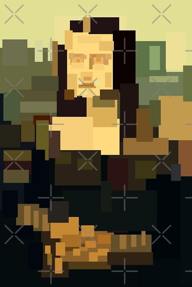 Mona Lisa (Gioconda) simplified  by kislev