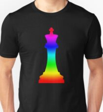 Rainbow King Chess Piece T-Shirt