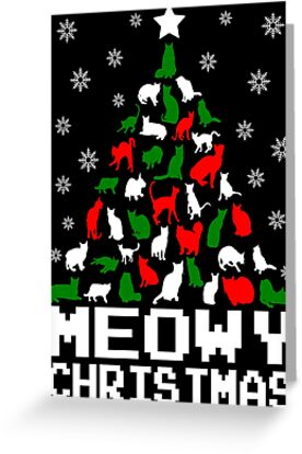 Meowy Christmas Cat Tree by EthosWear