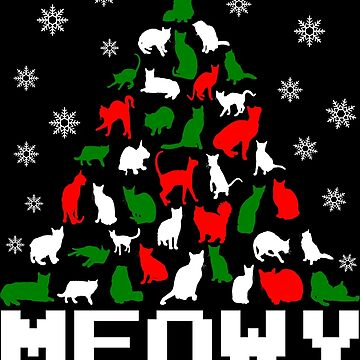 Meowy Christmas Cat Tree by EthosWear