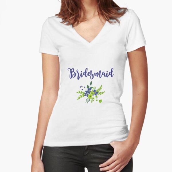 Bridesmaid Design Camiseta entallada de cuello en V