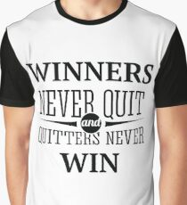 Redfool.com Winners Never Quit Graphic T-Shirt