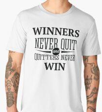 Redfool.com Winners Never Quit Men's Premium T-Shirt